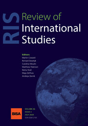 Review of International Studies Volume 46 - Issue 3 -