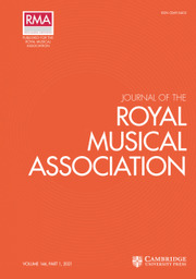Journal of the Royal Musical Association  Volume 146 - Issue 1 -