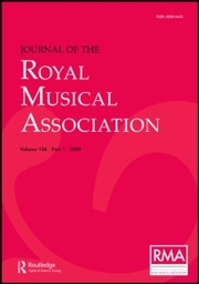 Journal of the Royal Musical Association  Volume 43 - Issue  -