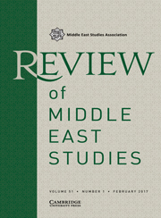 Review of Middle East Studies Volume 51 - Issue 1 -