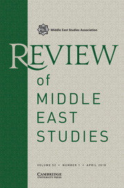 Review of Middle East Studies Volume 52 - Issue 1 -
