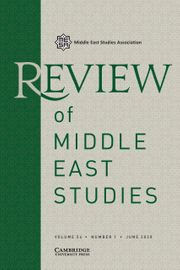 Review of Middle East Studies Volume 54 - Issue 1 -