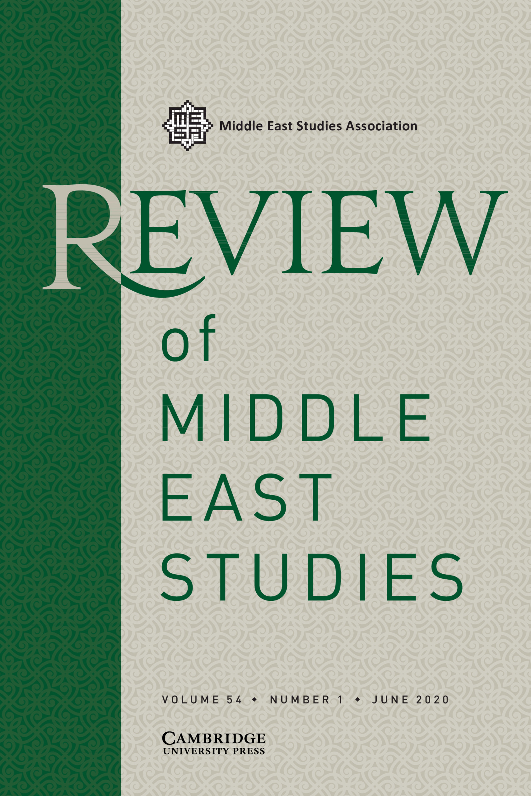 Review Of Middle East Studies Latest Issue Cambridge Core