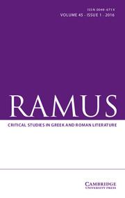 Ramus Volume 45 - Issue 1 -