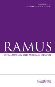 Ramus Volume 45 - Issue 2 -