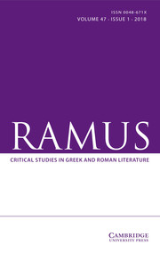 Ramus Volume 47 - Issue 1 -