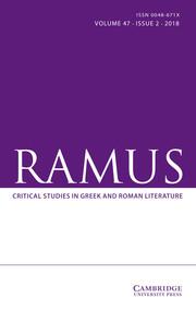 Ramus Volume 47 - Issue 2 -