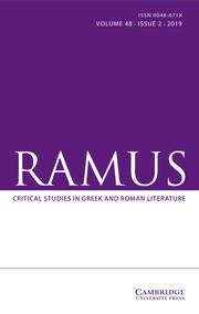 Ramus Volume 48 - Issue 2 -
