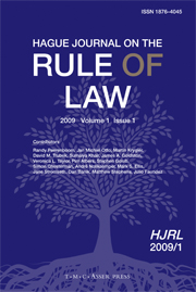 Hague Journal on the Rule of Law Volume 1 - Issue 1 -