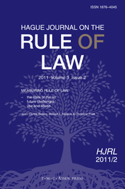 Hague Journal on the Rule of Law Volume 3 - Issue 2 -