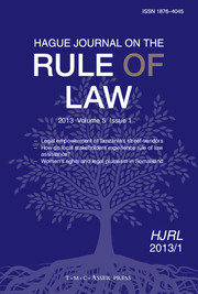 Hague Journal on the Rule of Law Volume 5 - Issue 1 -