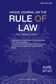 Hague Journal on the Rule of Law Volume 5 - Issue 2 -