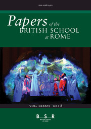 Papers of the British School at Rome Volume 86 - Issue  -