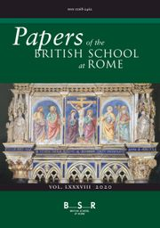 Papers of the British School at Rome Volume 88 - Issue  -