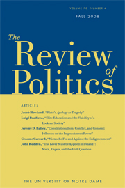 The Review of Politics Volume 70 - Issue 4 -