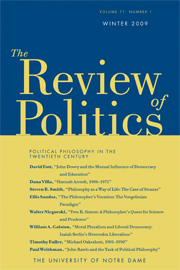 The Review of Politics Volume 71 - Issue 1 -