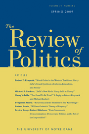 The Review of Politics Volume 71 - Issue 2 -