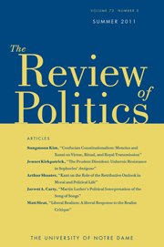 The Review of Politics Volume 73 - Issue 3 -