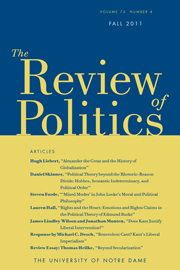 The Review of Politics Volume 73 - Issue 4 -
