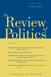 The Review of Politics Volume 74 - Issue 1 -
