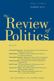 The Review of Politics Volume 74 - Issue 3 -