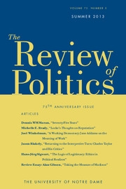 The Review of Politics Volume 75 - Issue 3 -