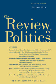 The Review of Politics Volume 76 - Issue 2 -