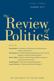 The Review of Politics Volume 77 - Issue 3 -