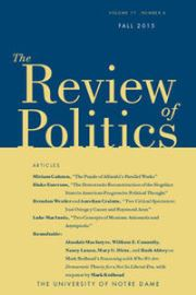 The Review of Politics Volume 77 - Issue 4 -