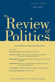 The Review of Politics Volume 79 - Issue 4 -  Dennis WM Moran: In Appreciation and Gratitude