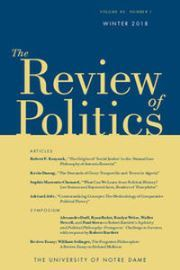 The Review of Politics Volume 80 - Issue 1 -