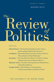 The Review of Politics Volume 81 - Issue 1 -