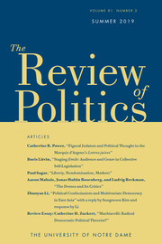 The Review of Politics Volume 81 - Issue 3 -