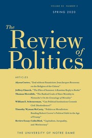 The Review of Politics Volume 82 - Issue 2 -