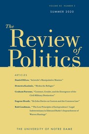 The Review of Politics Volume 82 - Issue 3 -