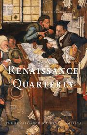 Renaissance Quarterly Volume 72 - Issue 2 -