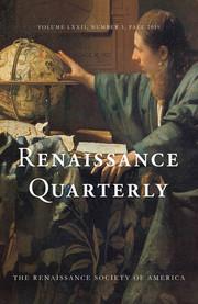 Renaissance Quarterly Volume 72 - Issue 3 -