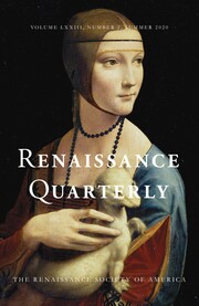 Renaissance Quarterly Volume 73 - Issue 2 -