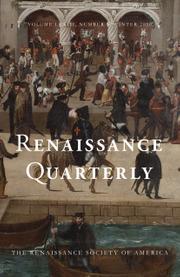 Renaissance Quarterly Volume 73 - Issue 4 -