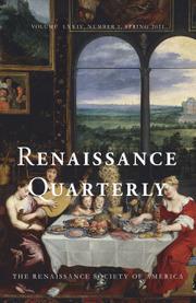 Renaissance Quarterly Volume 74 - Issue 1 -