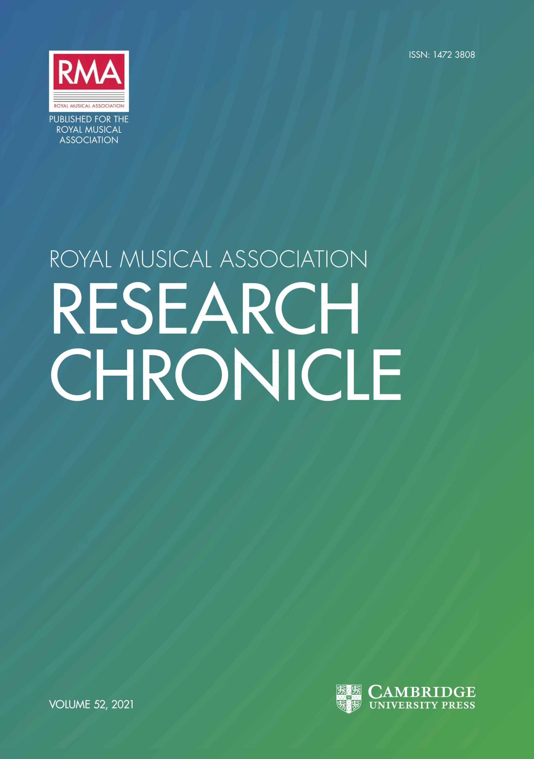 Royal Musical Association Research Chronicle