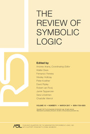 The Review of Symbolic Logic Volume 10 - Issue 1 -