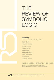 The Review of Symbolic Logic Volume 10 - Issue 3 -
