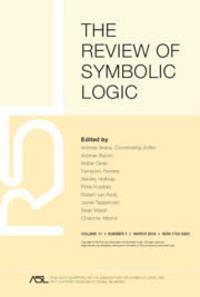 The Review of Symbolic Logic Volume 11 - Issue 1 -