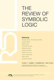 The Review of Symbolic Logic Volume 11 - Issue 4 -