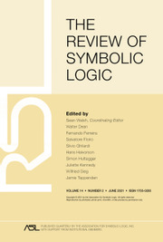 The Review of Symbolic Logic Volume 14 - Issue 2 -