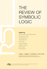 The Review of Symbolic Logic Volume 1 - Issue 3 -