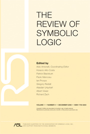 The Review of Symbolic Logic Volume 1 - Issue 4 -