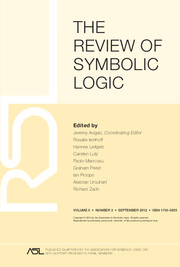 The Review of Symbolic Logic Volume 5 - Issue 3 -