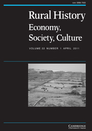 Rural History Volume 22 - Issue 1 -